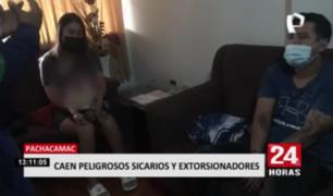 Caen peligrosos sicarios y extorsionadores en Pachacámac