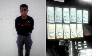 Capturan a exreo con gran cantidad de billetes falsos en SJM