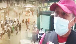 Huaycán: batalla campal por cobro de cupos en obras de construcción