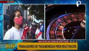 Miraflores: trabajadores de tragamonedas piden reactivación del sector
