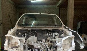 Huarochirí: capturan sujetos cuando desmantelaban camioneta de la Cruz Roja Internacional
