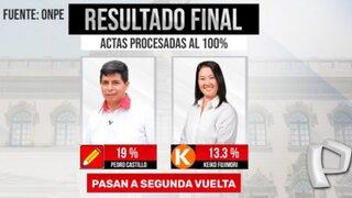 Elecciones 2021: ONPE publica resultados al 100% de actas procesadas