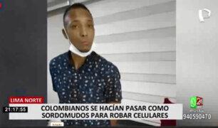 Los Olivos: capturan a pareja de colombianos que fingían ser sordos para robar