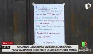 San Luis: vivienda figura por error como local de vacunación