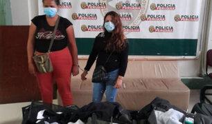 Capturan extranjeras que robaban ropa de marca en centros comerciales de Miraflores