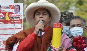 Pedro Castillo: Funcionarios corruptos tendrán que devolver  todo  lo robado al Estado