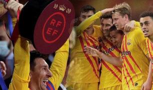 """Barcelona goleó 4-0 al Athletic Club  y se quedó con la """"Copa del Rey"""""""