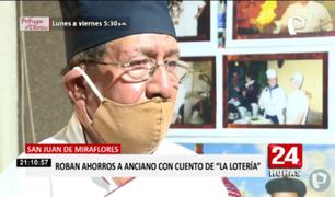 """SJM: anciano denuncia que lo estafaron con el presunto cuento de """"la lotería"""""""