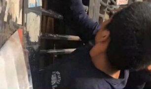Ate: sujeto queda atrapado en reja de bodega cuando trataba de ingresar para robar