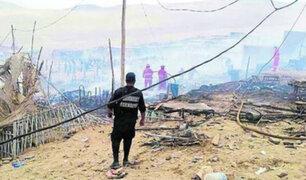 Incendio consumió decenas de precarias viviendas de un asentamiento humano en Áncash