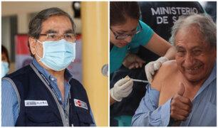 """Ugarte sobre vacunación en mayores de 70 años: """"Podríamos terminar antes de lo previsto"""""""