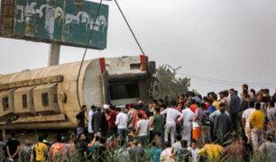 Tragedia en Egipto: Al menos 11 muertos y casi 100 heridos deja descarrilamiento de tren