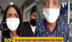 Lima Norte: extranjeros se hacían pasar como sordomudos para robar