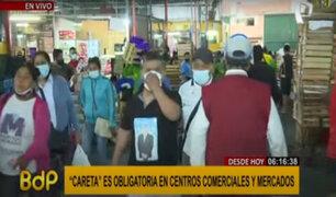 Mercado de Frutas: vendedores y compradores no usan protectores faciales