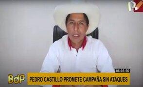"""Pedro Castillo promete campaña sin ataques: """"Por nuestra parte no habrán golpes bajos"""""""