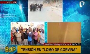 Invasores de Lomo de Corvina solicitan diálogo para ser reubicados