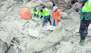 Caída de camión a abismo deja tres personas fallecidas en Junín