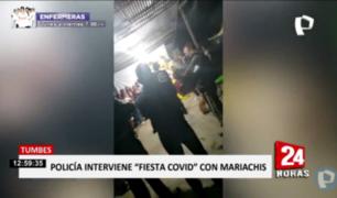 Tumbes: intervienen fiesta que tenía hasta mariachis