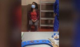 Moquegua: mujer pretendía ingresar droga a penal dentro del marco de un cuadro