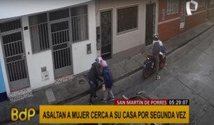 SMP: asaltan a mujer cerca de su vivienda por segunda vez