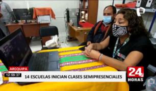 Arequipa: inician clases semipresenciales en 14 escuelas rurales
