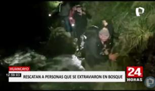 Huancayo: rescatan a siete personas extraviadas cuando hacían trekking