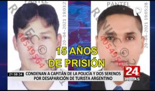 Sentencian a prisión a policía y exserenos implicados en muerte de turista argentino