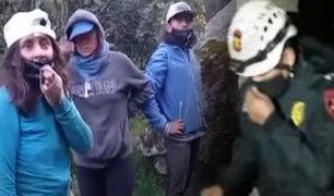 Huancayo: Así fue el rescate de los jóvenes perdidos en bosque de Sapallanga