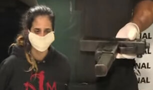 """San Miguel: capturan a una pareja liderada por una mujer que robaban con un arma """"Mini-Uzi"""""""