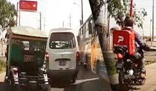 Santa Anita: repartidores y mototaxistas invaden veredas
