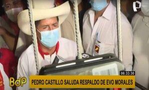 Pedro Castillo agradece muestra de apoyo de Evo Morales