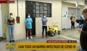 SMP: casi todo un barrio se encuentra infectado con COVID-19