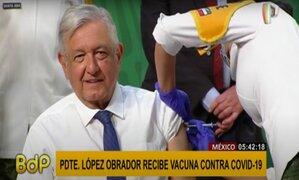 México: presidente López Obrador fue vacunado con dosis de AstraZeneca