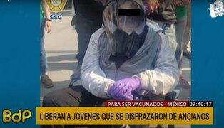 Hombres que se disfrazaron de ancianos para recibir vacuna fueron liberados