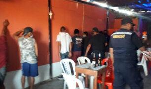 Piura: cerca de 50 personas bebían licor en cantinas clandestinas y no respetaban protocolos