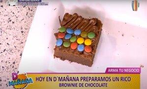 D´ Mañana: aprende a hacer unos deliciosos brownies de chocolate para tu negocio