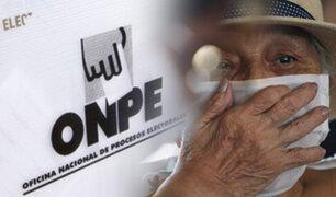 ONPE recomienda nuevo horario escalonado para acudir a votar este 6 de junio