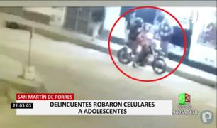 Ladrones en moto interceptaron a menores para robarles sus pertenencias en SMP