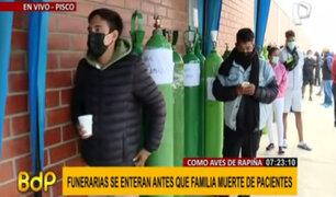 Drama en Pisco: hacen largas colas para conseguir oxígeno para pacientes con covid-19