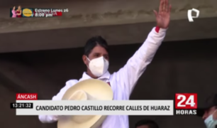 Pedro Castillo inició campaña de segunda vuelta en Áncash