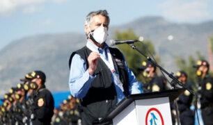"""Presidente Sagasti: el Gobierno está atento y listo para luchar """"contra cualquier tipo de terrorismo"""""""