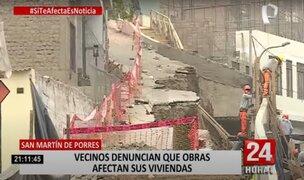 SMP: municipio anunció que se harán cargo de daños ocasionados a casas por obra