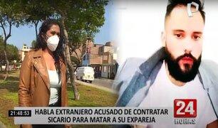 Habla ciudadano extranjero acusado de contratar sicario para matar a su expareja