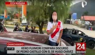 """Keiko Fujimori compara a Pedro Castillo con Hugo Chávez: """"es poco creíble"""""""