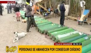 VES: personas se amanecen acampando en exteriores de planta de oxígeno medicinal
