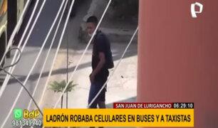 SJL: capturan a sujeto que robaba a pasajeros de buses y taxistas