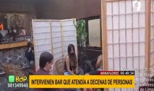 Miraflores: clausuran por segunda vez bar tras desacatar medidas frente al covid-19