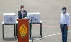 Presidente Francisco Sagasti llegó a Tumbes para entrega de vacunas contra la COVID-19
