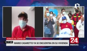 Mario Casaretto pidió no tener vergüenza y pedir ayuda si tenemos síntomas de COVID-19