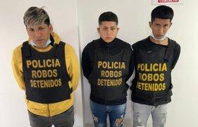 SJL: desarticulan banda criminal dedicada al robo de celulares al paso